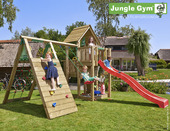 Jungle Gym Cubby inclusief lange glijbaan met wateraansluiting, klimrek en schommel
