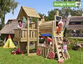 Jungle Gym Cubby inclusief lange glijbaan met wateraansluiting en trein