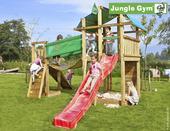Jungle Gym Fort inclusief lange glijbaan met wateraansluiting en loopbrug