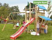 Jungle Gym Fort inclusief lange glijbaan met wateraansluiting, dubbele schommel en winkeltje