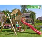Jungle Gym Cubby inclusief lange glijbaan en schommel
