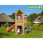 Jungle Gym Club inclusief korte glijbaan met wateraansluiting en speelhuisje