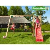 Jungle Gym Tower inclusief korte glijbaan met wateraansluiting en dubbele schommel