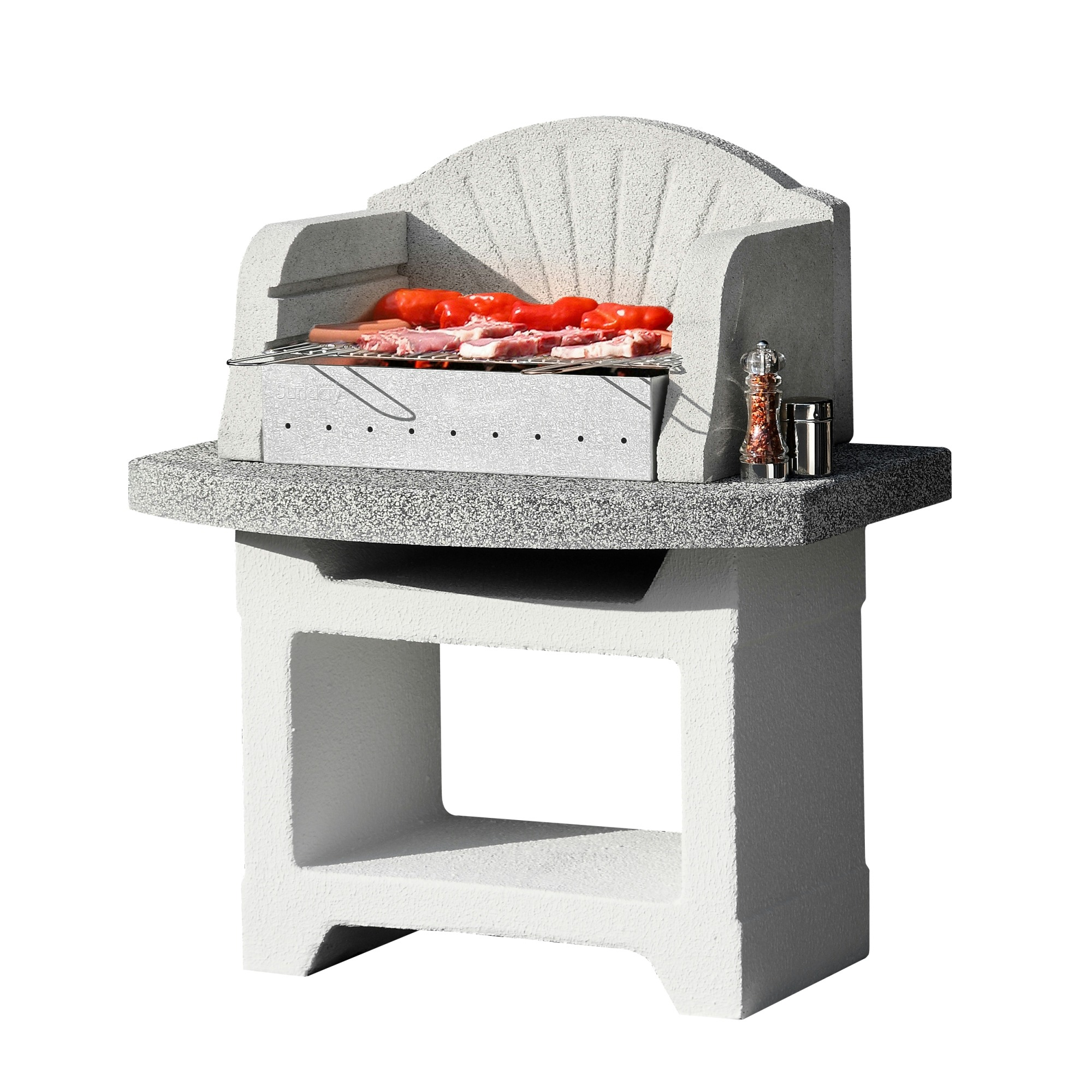 barbecue beton palma special wit met grijs barbecues barbecue tuin gamma. Black Bedroom Furniture Sets. Home Design Ideas