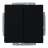 Busch-Jeager Future Linear wissel-wisselschakelaar zwart