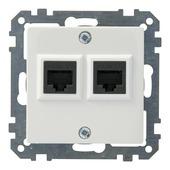 Schneider Electric System UTP contactdoos 2-voudig wit