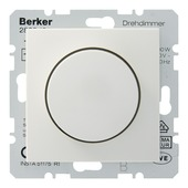 Berker S.1 dimmer met drukknop wit