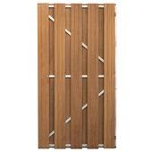 Tuinpoort recht hardhout 180x100 cm