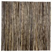 Bamboerol naturel zwart 180x180 cm