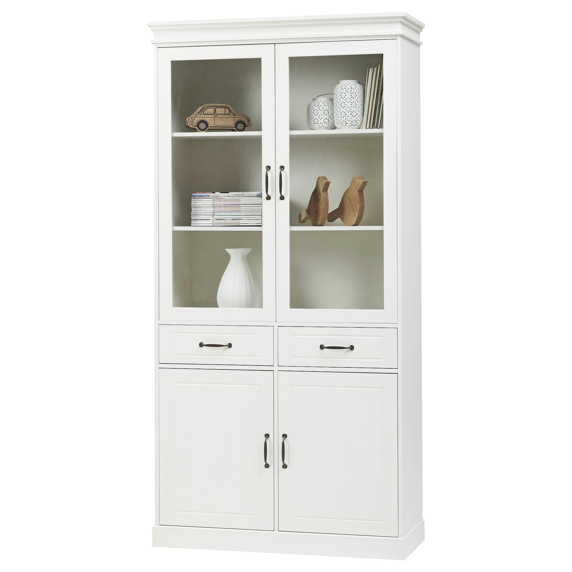 avignon vitrinekast mdf wit 200x100x40 cm buffet vitrinekasten kasten meubelen gamma. Black Bedroom Furniture Sets. Home Design Ideas