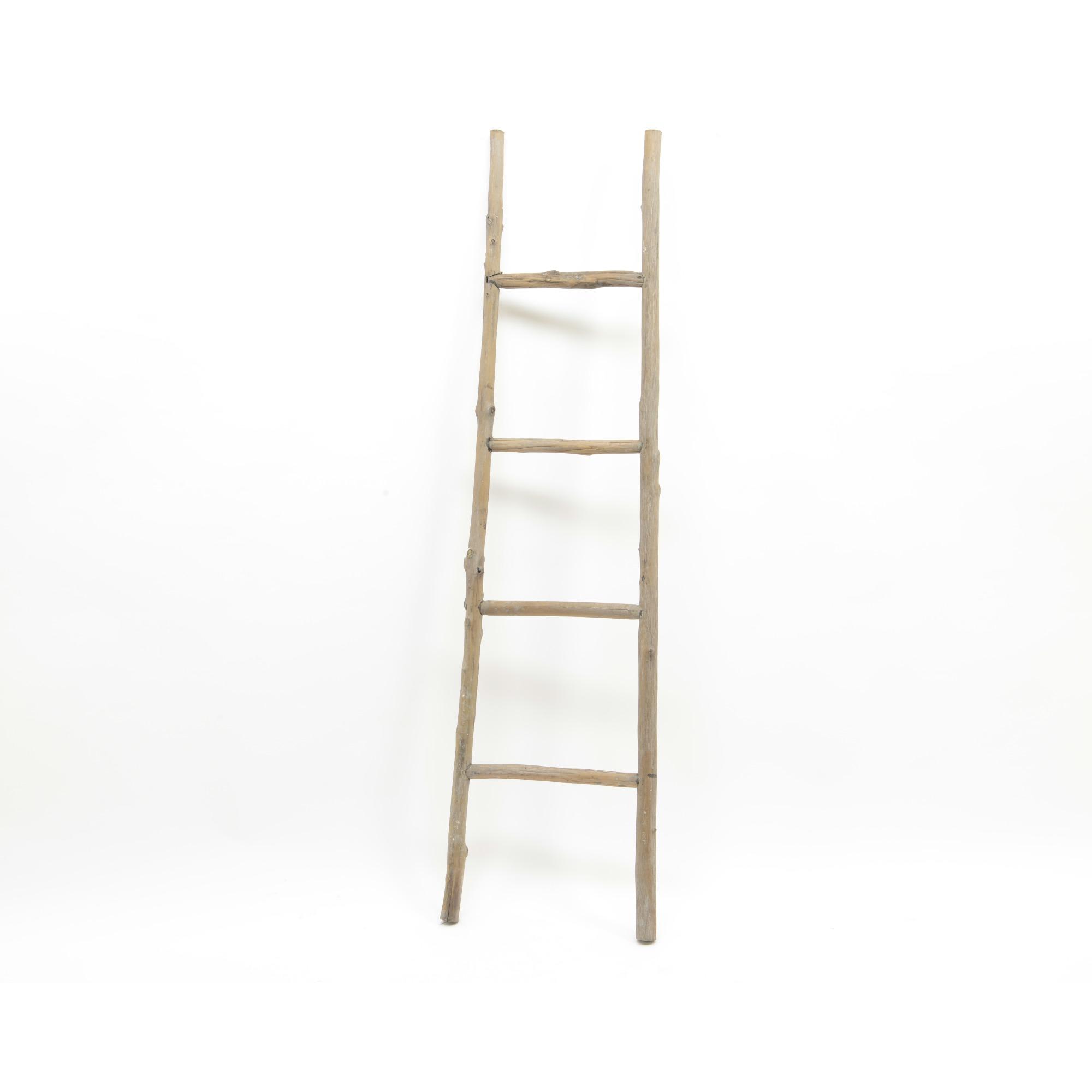 Ladder decoratief van hout overige woonaccessoires woonaccessoires meubelen gamma - Decoratie houten trap ...